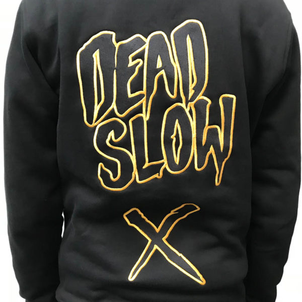 hoodieback 600x600 - Black and Gold Embroidered Hoodie