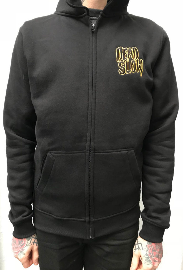 hoodiefront 694x1024 - Black and Gold Embroidered Hoodie
