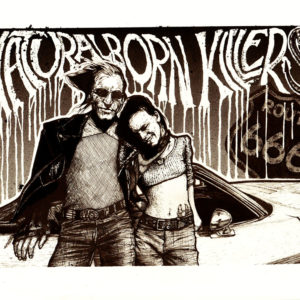 Jacks print colour 300x300 - A3 Natural Born Killers print by Jack Applegate