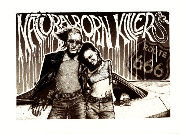 Jacks print colour 600x433 - A3 Natural Born Killers print by Jack Applegate