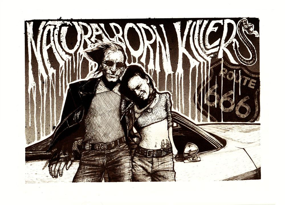 Jacks print colour - A3 Natural Born Killers print by Jack Applegate