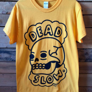 yellow 300x300 - Yellow Dead Slow T Shirt Designed by Mr. Heggie