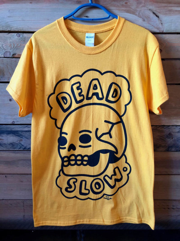 yellow 600x800 - Yellow Dead Slow T Shirt Designed by Mr. Heggie