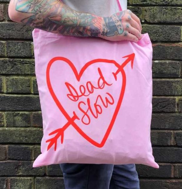 download 2 600x622 - Pink Cotton Dead Slow Tote Bag